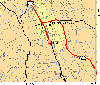 Willow Street, PA (17584) map