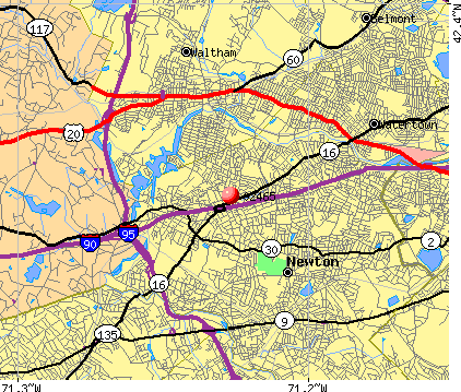 , MA (02465) map