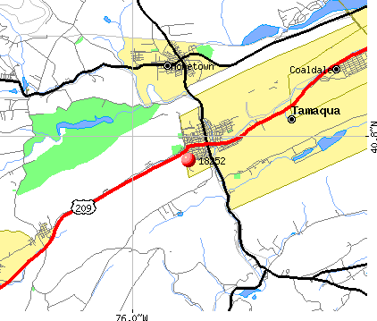 Tamaqua, PA (18252) map
