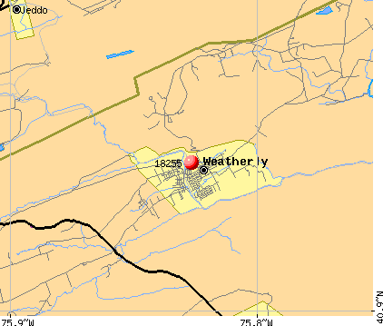 Weatherly, PA (18255) map