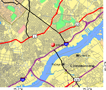 Philadelphia, PA (19135) map