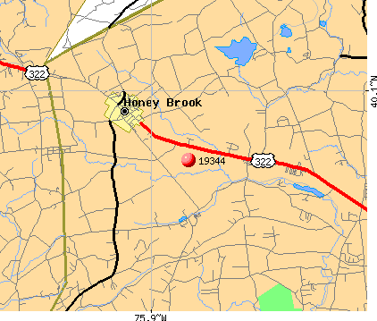 Honey Brook, PA (19344) map