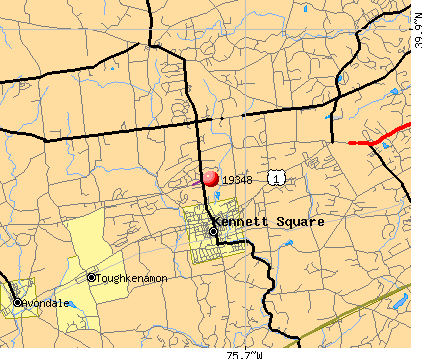 Kennett Square, PA (19348) map