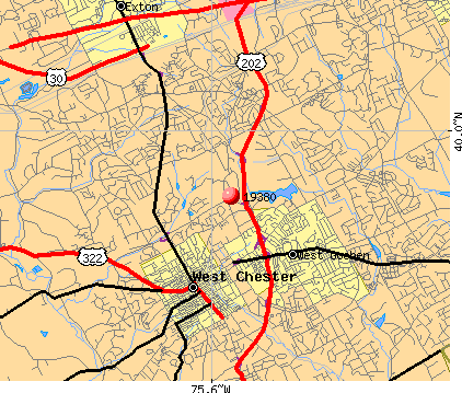West Chester, PA (19380) map