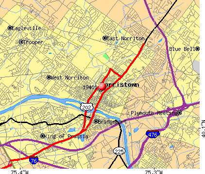 Norristown, PA (19401) map