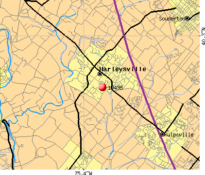 Harleysville, PA (19438) map