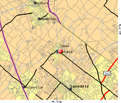 Hatfield, PA (19440) map