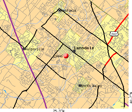 Lansdale, PA (19446) map