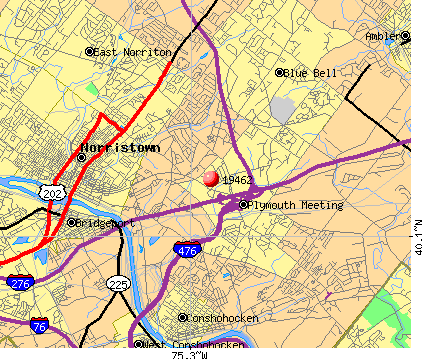 Plymouth Meeting, PA (19462) map