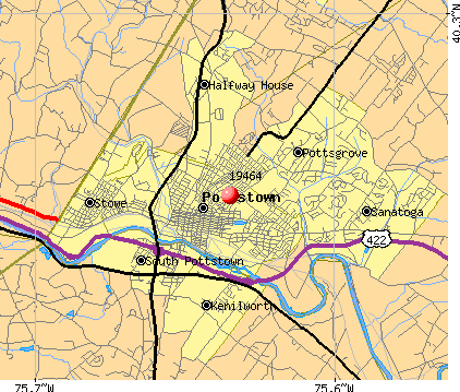 Pottstown, PA (19464) map