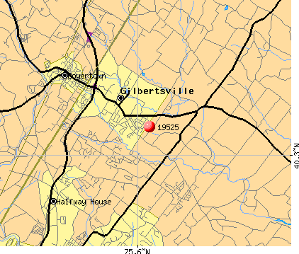 Gilbertsville, PA (19525) map