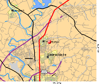 Laureldale, PA (19560) map