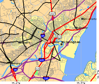 Wilmington, DE (19801) map