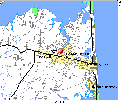 Ocean View, DE (19970) map