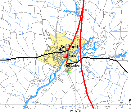 Seaford, DE (19973) map