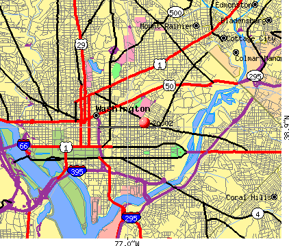 Washington, DC (20002) map