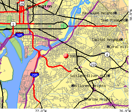 Washington, DC (20020) map