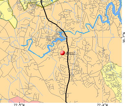 Dale City, VA (20112) map