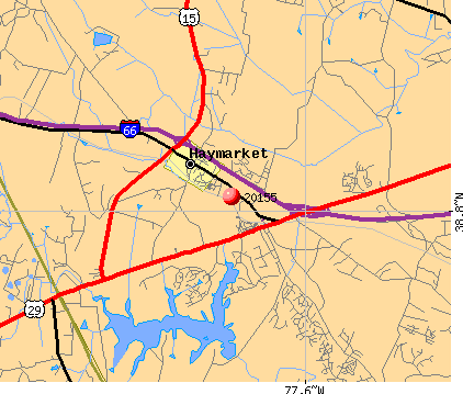 Gainesville, VA (20155) map