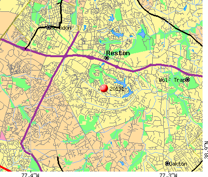 Reston, VA (20191) map