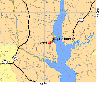 Eagle Harbor, MD (20608) map