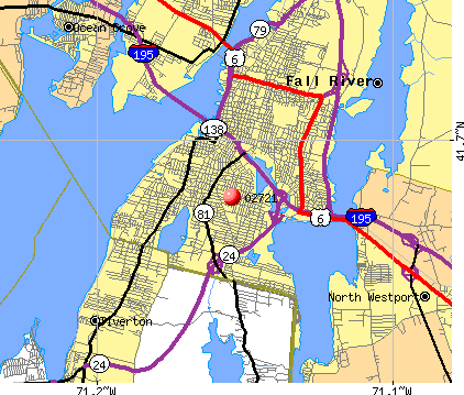 Fall River, MA (02721) map