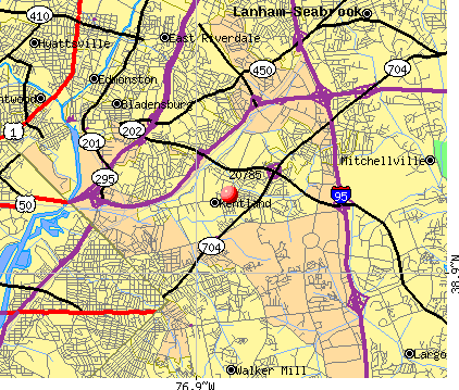 Cheverly, MD (20785) map