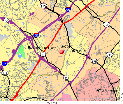 Jessup, MD (20794) map