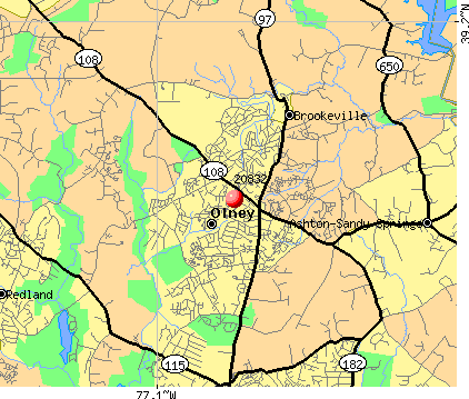 Olney, MD (20832) map