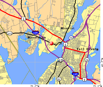 Somerset, MA (02725) map