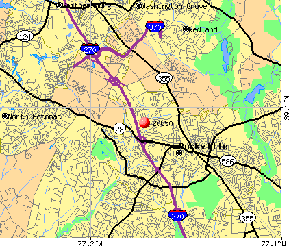 Rockville, MD (20850) map