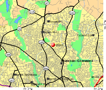 Aspen Hill, MD (20906) map