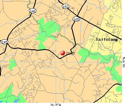 Fallston, MD (21013) map
