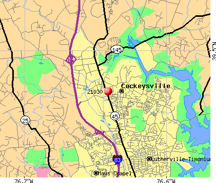 Cockeysville, MD (21030) map