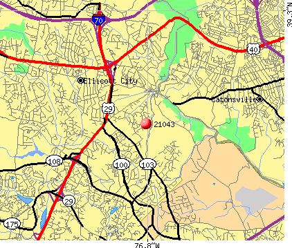 Ellicott City, MD (21043) map
