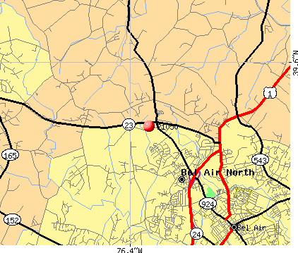 Bel Air North, MD (21050) map