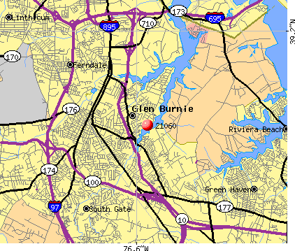 Glen Burnie, MD (21060) map
