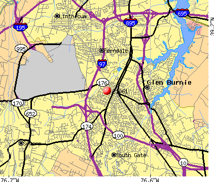 Glen Burnie, MD (21061) map