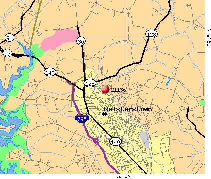 Reisterstown, MD (21136) map