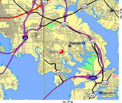 Dundalk, MD (21222) map