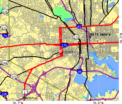 Baltimore, MD (21223) map