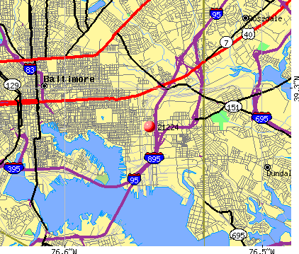 Baltimore, MD (21224) map