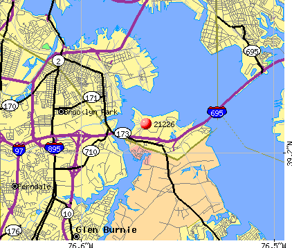 Baltimore, MD (21226) map
