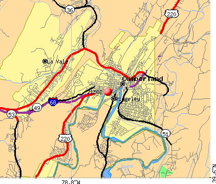 Cumberland, MD (21502) map