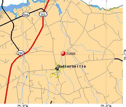 Sudlersville, MD (21668) map