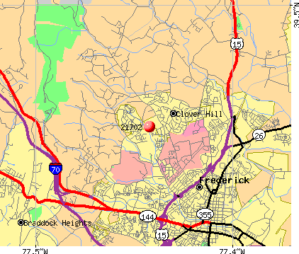Frederick, MD (21702) map