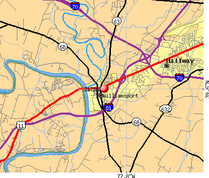 Halfway, MD (21795) map