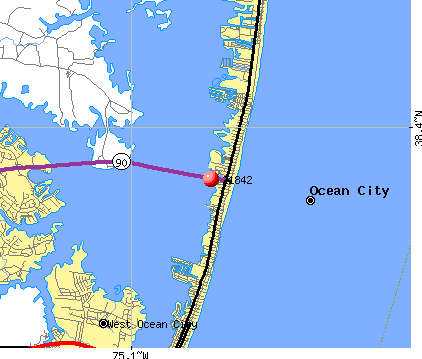 Ocean City, MD (21842) map