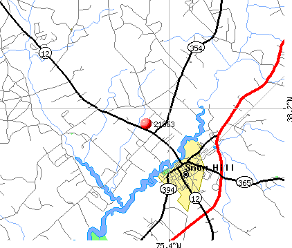 Snow Hill, MD (21863) map