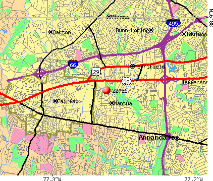 Mantua, VA (22031) map